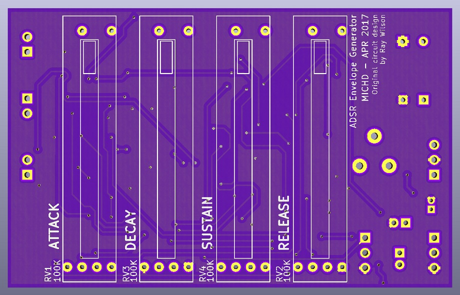 A render of what the PCB would look like form the top
